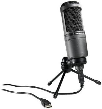 Cardioid Condenser USB Microphone Audio-Technica AT2020USB Black