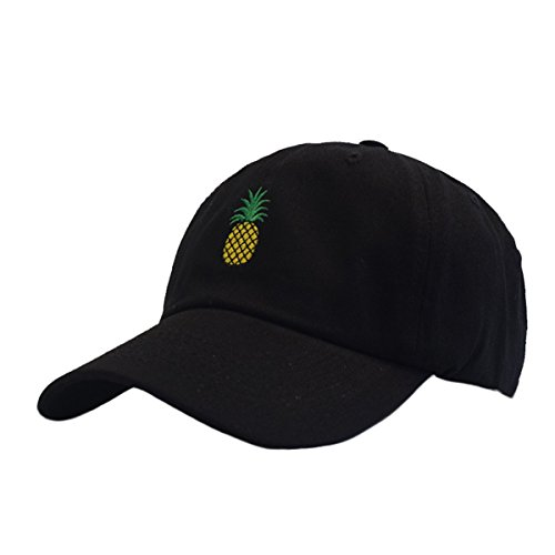 Himozoo Pineapple Embroidery Dad Hat Adjustable Cotton Baseball Cap for Men Womens