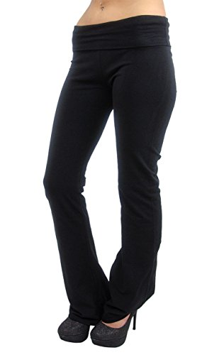 Vivian's Fashions Yoga Pants - Extra Long, Misses Size (Black, 6X)
