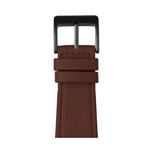 Roobaya | Premium Nappa Leather Apple Watch Band in Medium Brown | Includes Adapters matching the Color of the Apple Watch, Case Color:Space Gray Aluminum, Size:38 mm