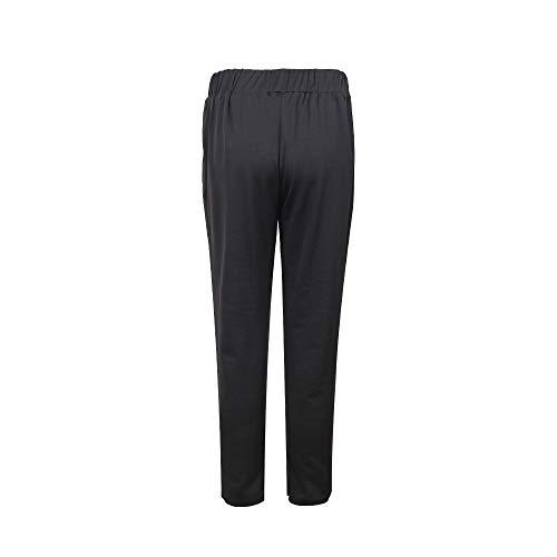 Pantaloni Zhrui Elastica Vita Donna a Piedini Nero 6wf0q