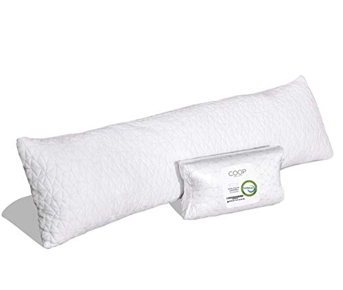 Coop Home Goods - Adjustable Body Pillow - Hypoallergenic Cross-Cut...