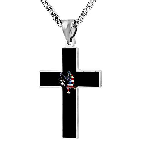 M100% 2018 Lacrosse Boy Player Sports Metal Religious Zinc Alloy Stainless Silver Steel Cross Necklace Holder Pearl Chain Urn -