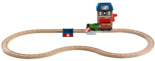 Fisher-Price Thomas & Friends Wooden Railway, Percy and the Mail Station Set - Battery Operated