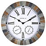 (FirsTime 99670 Garden Stone Outdoor Wall Clock Faux)