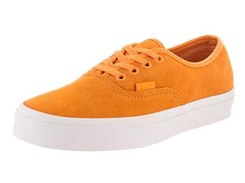 Vans Unisex Authentic (Soft Suede) Soft Suede/Zinnia/True Wht Skate Shoe 7 Men US / 8.5 Women US (Vans Authentic Suede)