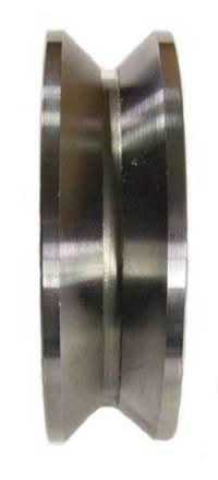 3'' x 7/8'' Steel V-Groove Barn Door Wheel - 550 lbs Capacity