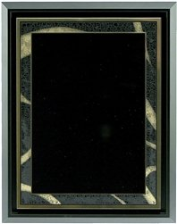 AS4-710, 7 x 10 Black/Gold Plate in Floater (Floater Plate)