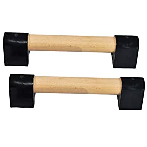 Well-Being-Matters 31Gbinri3JL._SS300_ Wood Mini Parallettes Set for Gymnastics or Push up Bars. Portable.