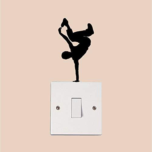 KUANGJING Interruptor de luz Stickerbreak Dance Boy Moda Vinilo ...