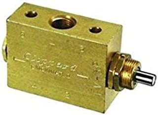 """product image for Clippard FV-3P 3-Way Spool Plunger Actuated Spring Return Valve, 1/8"""" NPT, 10.5 SCFM at 100 PSIG"""