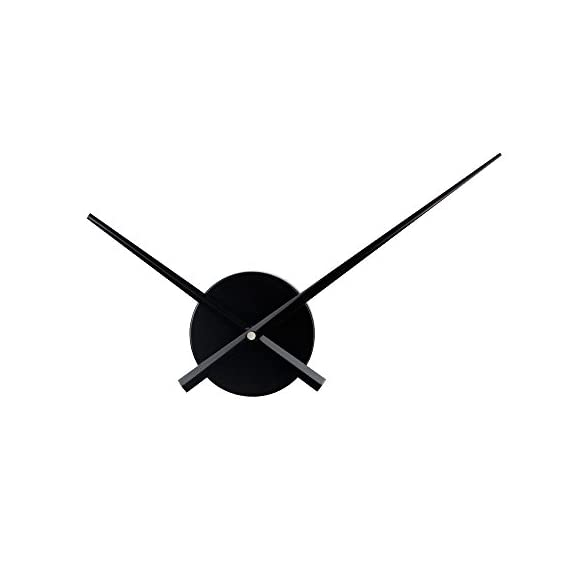 Timelike 3D Clock Hands, DIY Large Clock Hands Needles Wall Clocks 3D Home Art Decor Quartz Clock Mechanism Accessories (Black) - Hour hand length: 23.5cm ; Minute hand length: 31.5cm; Clock Dial: 10.4cm; Material: alumnium Powered by 1*AA battery(not including) Simple Design: Cool clock has an open design with just minute and hour hands. - wall-clocks, living-room-decor, living-room - 31Gbk9Q0HcL. SS570  -