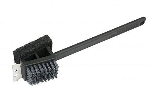 Charcoal Companion CC4151 Plastic 2-in-1 Safe Scrub Grill Brush/Long Handle, ()