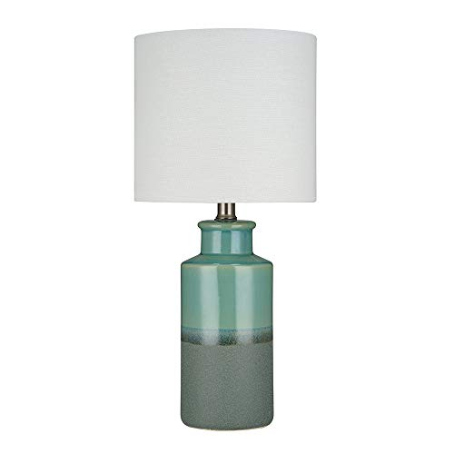 Stone & Beam Table Lamp with a Drum Shade, Bulb Included, 19.75