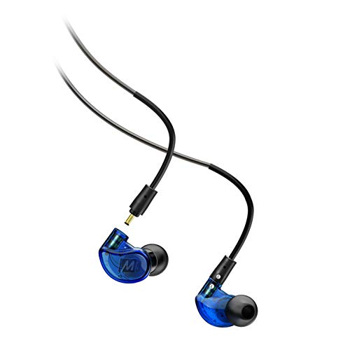 MEE audio M6 PRO Musicians' In-Ear Monitors with Detachable Cables; Universal-Fit and Noise-Isolating (2nd Generation) (Blue)