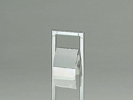 Meubletmoi Soporte de Papel higi/énico con escobillero WC Metal Cromado/ /Portarrollo Acero/ /dise/ño Moderno/ /Chronos 02