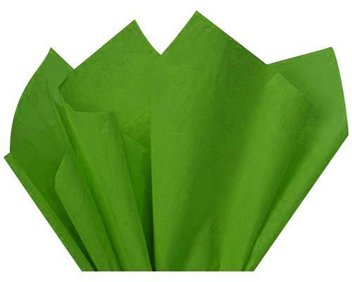 "Flexicore Packaging® | Gift Wrap Tissue Paper | Size: 15""x20"" | 100 Sheet | Acid Free Bulk | (Mossy Green, 100 Sheets)"