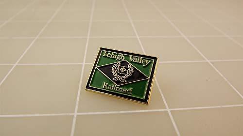 (Aveshop Lehigh Valley Railroad Black, Green Enameled Lapel Pin - Popular Items for Enamel Lapel pin)