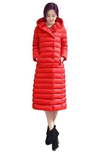 Imbottito Cotone Donne Di Rosso Yming Cappotti Delle Piumino Lungo Tgwv0X