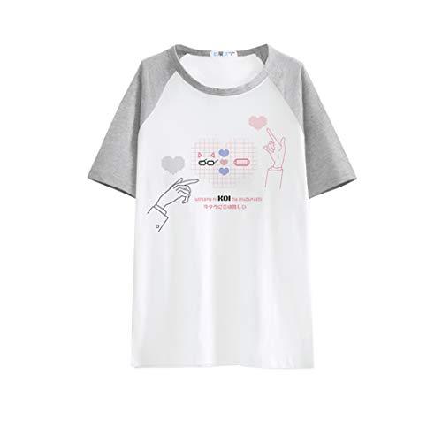 Zulha ヲタクに恋は難しい カップルの短い袖 Tシャツ アニメ にじげん (A  XXL)の商品画像