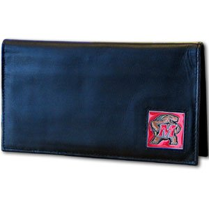 (Siskiyou NCAA Maryland Terrapins Leather Checkbook Cover )