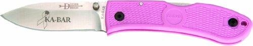 KA-BAR Dozier Folding Hunter Knife, Pink, Outdoor Stuffs