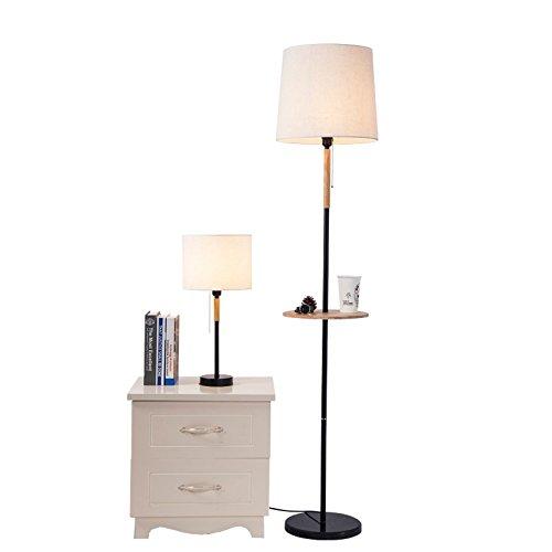 YFF@ILU minimalistisches Design Wohnzimmer Schlafzimmer Studie aus Massivholz, Stehleuchte, Tischleuchte, Schalter des Helligkeitsreglers