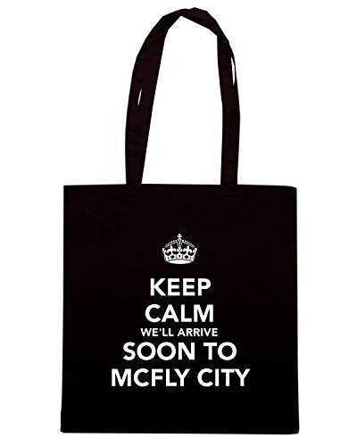 ARRIVE Borsa CALM CITY TO KEEP Shirt Shopper SOON Nera TKC3266 MCFLY WE'LL Speed 8BnRFqOwB