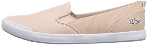 Lacoste Women's Lancelle Slip On 118 1 Caw Sneaker, Natural/Light Blu, 7.5 M US