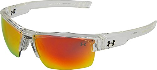 Under Armour Igniter Multiflection Sunglasses, Crystal Clear Frame/Gray, Orange & Multi Lens, One (Multi Lens Sunglasses)