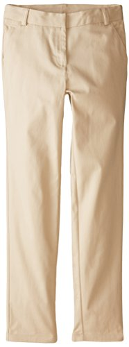 Nautica Big Girls' Uniform Stretch Twill Skinny Pant, Su Khaki, 10