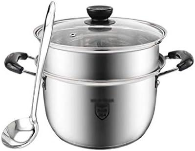 Pot Pots de cuisson Casseroles Pot à soupe épaissi Pot en acier inoxydable 304 Pot à soupe double oreille Ménage Cuisine Cuisson au lait Cuisinière à gaz Poêle à frire