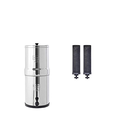 Travel Berkey Gravity-Fed Water Filter with 2 Black Berkey Purification
