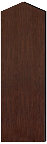 Salsbury Industries 22246MAH Double End Side Panel for 21-Inch Deep Extra Wide Designer Wood Locker with Sloping Hood, Mahogany Brown by Salsbury Industries