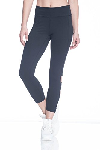 Gaiam Women's Om Capri Yoga Pants - Performance Spandex Compression Legging - Black Tap Shoe, X-Small