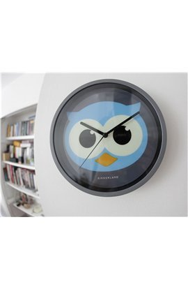 KI Night Owl Novelty Retro Owl Wall Clock With Glow in the Dark - Shaped Owl Clock