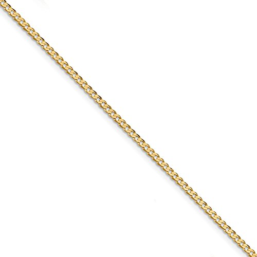 ICE CARATS 14k Yellow Gold 2.2mm Beveled Link Curb Chain Anklet Ankle Beach Bracelet 10 Inch Fine Jewelry Gift Set For Women Heart by ICE CARATS