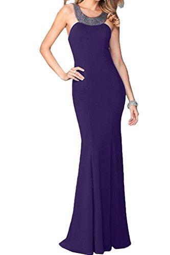 ivyd ressing Donna linea alta qualità custodia pietre Rueckenfrei Party Festa Prom abito abito sera vestito Violett 44