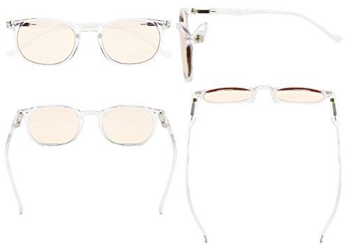 Eyekepper Vintage UV Protection Reading Glasses with Anti reflective Coating 0.50 Strength Readers(Amber Tinted Lens-Transparent) by Eyekepper (Image #1)