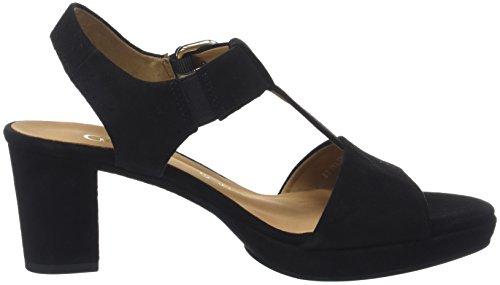 Gabor Dames Comfortabele Manier Sandaaltjes Zwart (black (sc.gold))