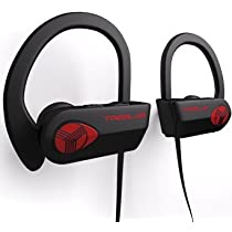 TREBLAB XR500 Bluetooth Headphones, Best Wireless Earbuds For Sports, Running Or Gym Workout. 2017 Updated Version. IPX7 Waterproof, Sweatproof, Secure-Fit Headset. Noise Cancelling Earphones w/ Mic