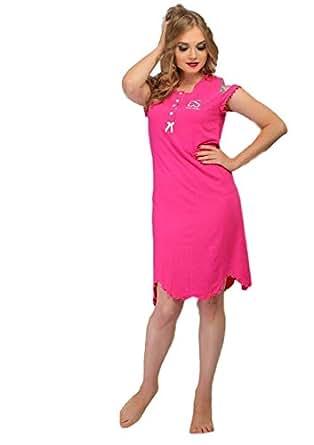 Cotton Candies Pink Nightshirt For Women
