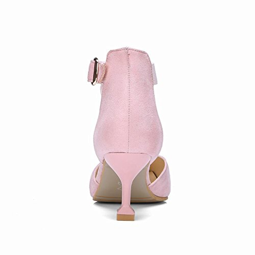 Mee Shoes Women's Sexy Buckle Ankle Strap Court Shoes Pink cQiIz3