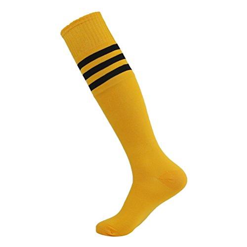 Lucky Commerce Unisex Knee High Solid Sport Soccer Socks Football Sock 10//4//2 Pairs