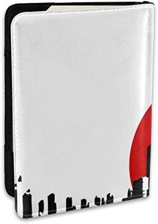 Godzilla Logo ゴジラ ロゴ パスポートケース メンズ 男女兼用 パスポートカバー パスポート用カバー パスポートバッグ ポーチ 6.5インチ高級PUレザー 三つのカードケース 家族 国内海外旅行用品 多機能