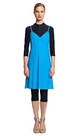 Modest Sea Emily 1-Pc Swim Dress Burkini at Amazon Women's