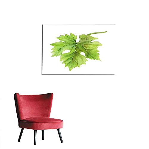 (homehot Wall Sticker Decals Grape Leaf of Vine Watercolor Mural)