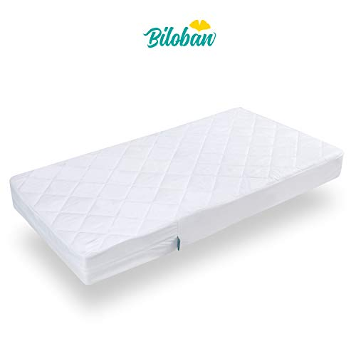 Zippered Crib Mattress Protector - Waterproof Crib Mattress Encasement, Breathable and Absorbent, 6 Side Fully Encased Crib Mattress Cover.