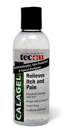 Tecnu Calagel Maximum Strength Anti-Itch Gel, Pain Reliever for Rashes, Poison Ivy, Bug Bites, Stings, Clear, 6 Ounce ()