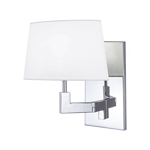 Norwell 8240-PN-WS One Light Wall Sconce 8230-PN-SO Transitional Alex Collection in Chrome, Pol. Nckl.Finish